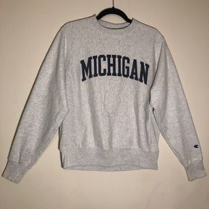 Champion University of Michigan Crewneck Sweater